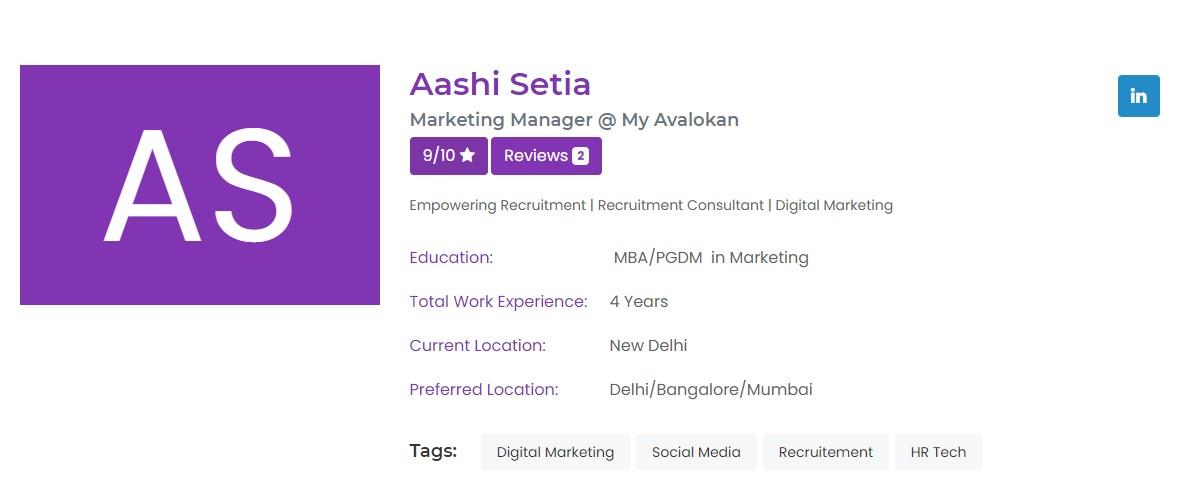 updates profile - create your portfolio online