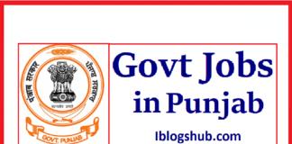Punjab Govt Jobs 2021
