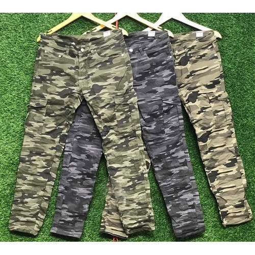 Olive Printed Trouser